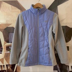 New Balance zip up micro fleece puffer jacket